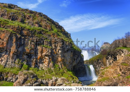 white river waterfall in the...
