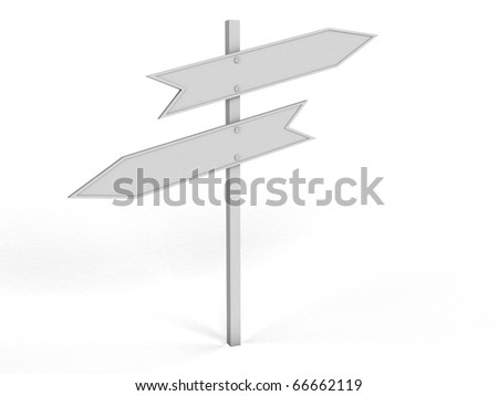 White road sign1