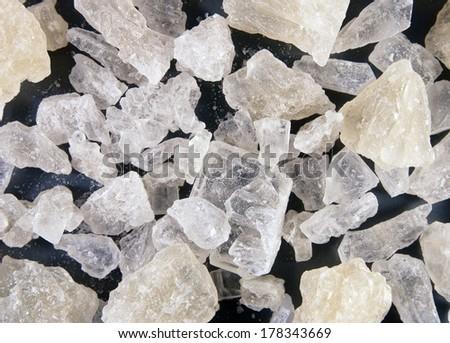 White rock sugar background