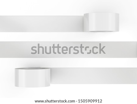 White Roll Duct Tape, 3D Rendered on light gray background Photo stock ©
