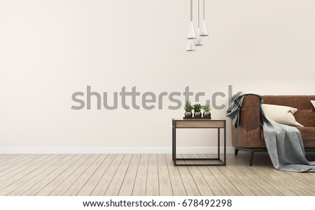 White room with a sofa. Living room interior. Scandinavian interior. -3d rendering