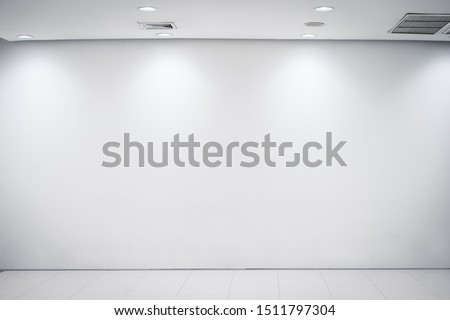 White Room with ceiling light from panel bulbs.