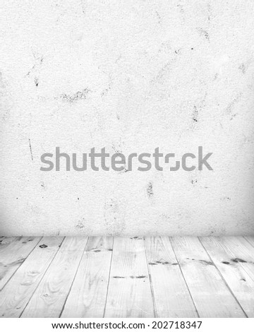 White room with white wood floor