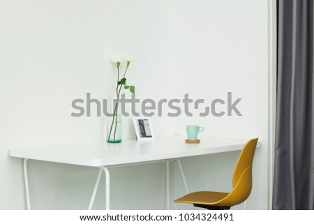 White rose cup wall room #1034324491