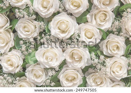 White roses as a background, Vintage love, Valentine\'s Day