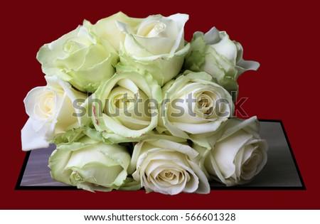 white roses wedding bouquet Stockfoto ©