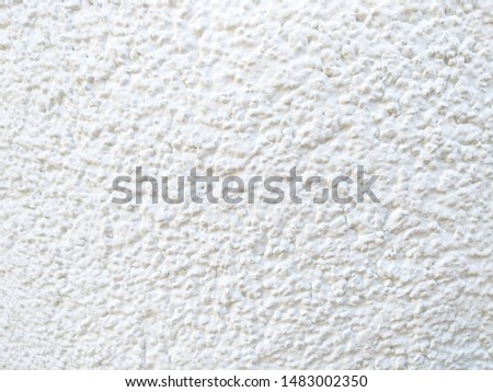 White rough wall background. Rough surface.