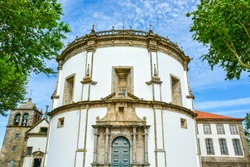 White round church of Monastery of Serra do Pilar, Porto, Portugal
