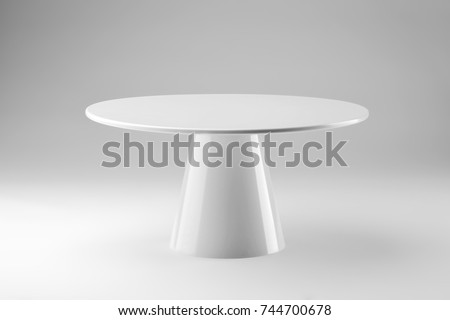 white round stand cake isolated on white background Foto stock ©