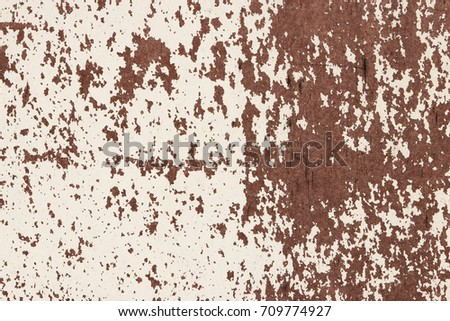White Rusty Paint Wall Texture. Scratches and Cracks . Scratches and Cracks. #709774927