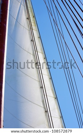 white sails of yachts and blue sky #108572879