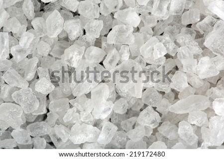 White salt texture