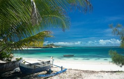 White sand beach,  heaven , paradise in  Madagascar