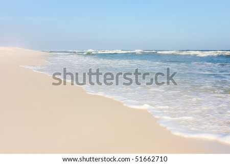 White sand beach in Florida