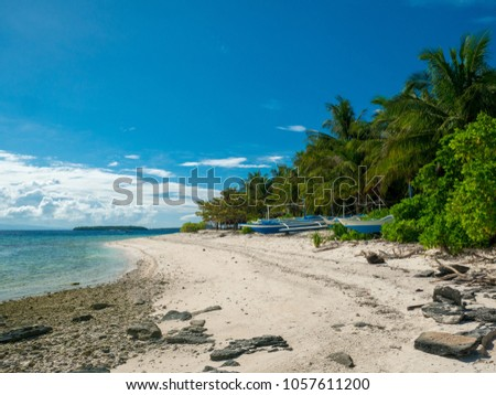 White sand beach of Dygio Island in Philippines #1057611200