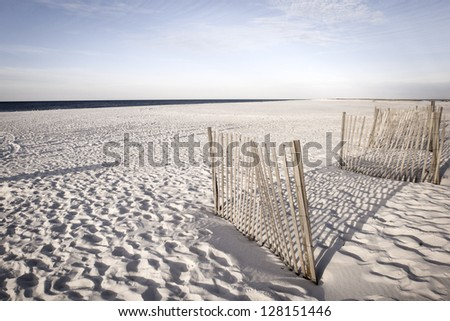 White sand dunes of Alabama Gulf Shores