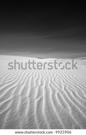 White Sands National Park High contrast black and white