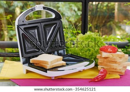 white sandwich maker Stock photo ©