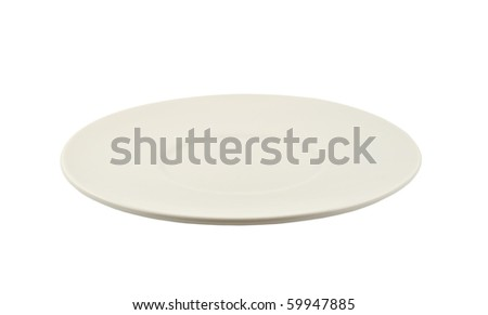 White saucer isolated on white background