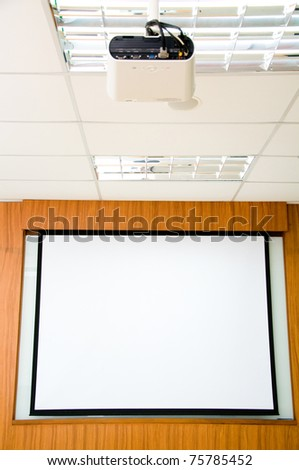 White scene for presentation with projector