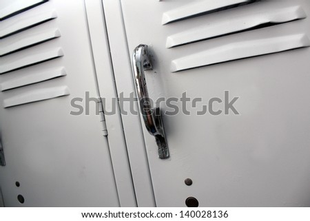 white school lockers