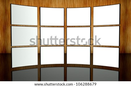 White screen wall background