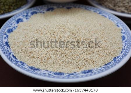 White sesame is a traditional nutritious food.
