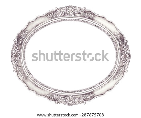 White Shabby Chic Oval Frame Clipping Paths For Easier Editing