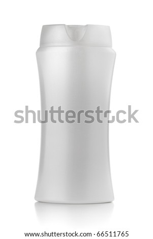 White shampoo bottle. Isolated on white background
