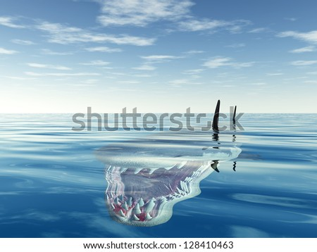 White Shark Computer generated 3D illustration