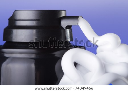 White shaving foam