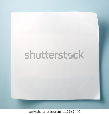 white sheet of paper for notes