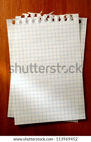 white sheet of paper for notes - stock photo