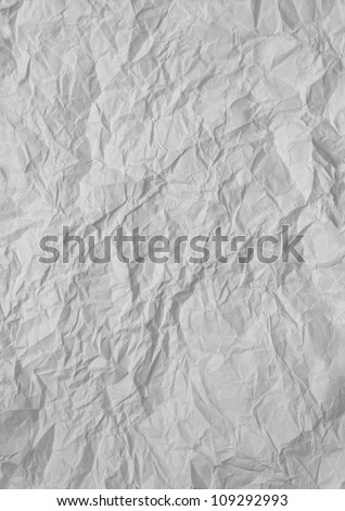 white sheet of wrinkled paper