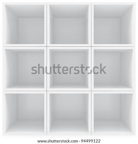 White shelves #94499122