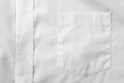 White shirt chest pocket close up
