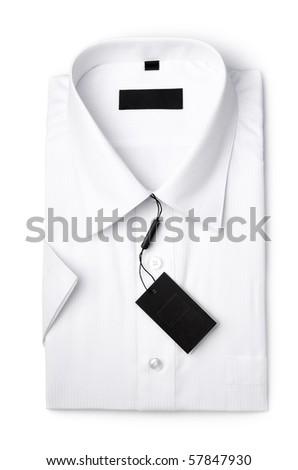 White shirt isolated ower white