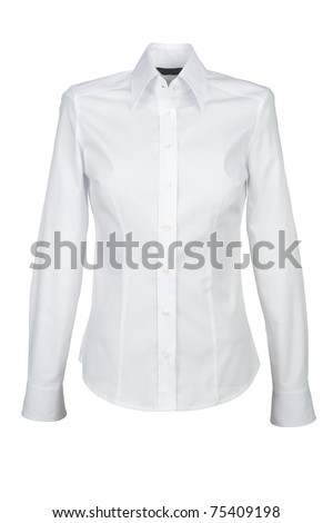 white shirt with long sleeves isolated on white background #75409198