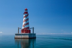 White Shoal Lighthouse - An offshore lighthouse on Lake Michigan.