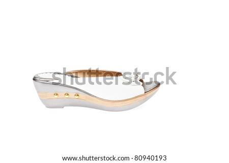 White shoes, Platform for Women - stock photo