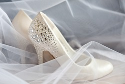 white shoes with rhinestones