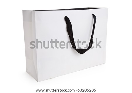 White Shopping Bag Isolated On White