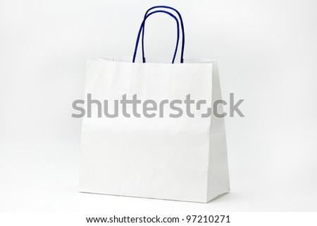 White shopping bag on white.