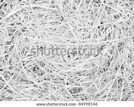 White Shredded paper texture for background