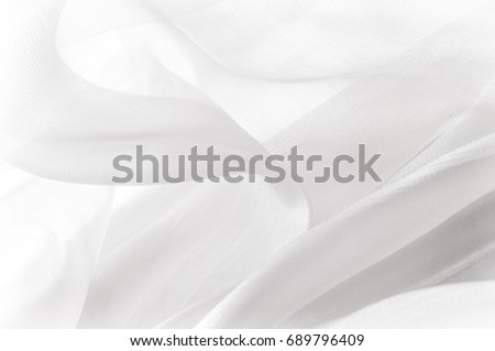 White silk fabric for draping. Abstract fabric, artistic wavy fabric Fractal pattern