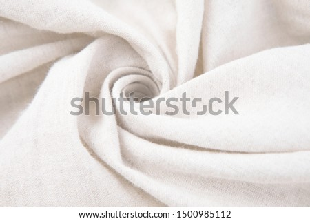 White silk fabric texture pattern. Background or texture