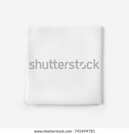 White silk scarf on white background with shadow. many views. Blank scarf. Blank silk. White silk. folded. in foil bag. mockup - Shutterstock ID 745494781