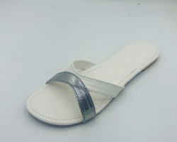 White silver Slipper for Women's