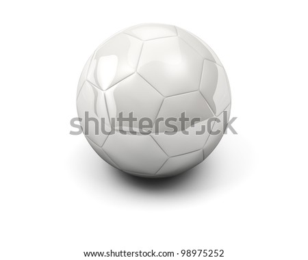 White simple soccer ball