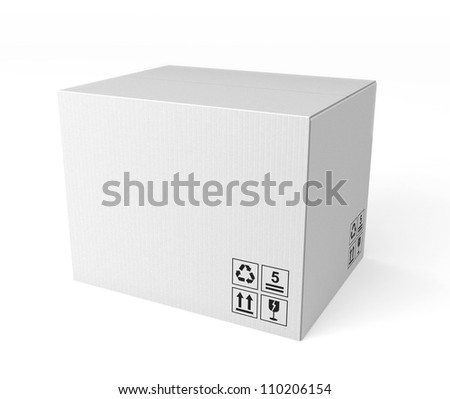 white single cardboard box